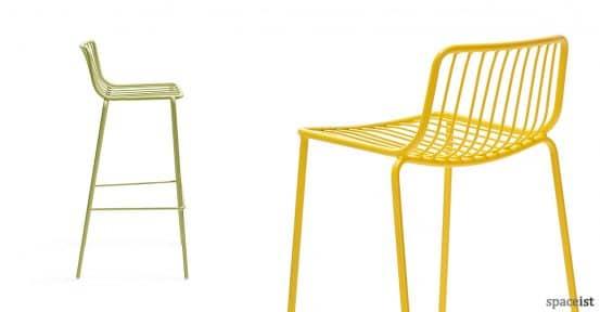 Nolita green and yellow steel stool