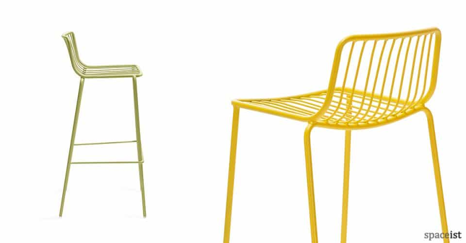 Nolita green and yellow steel stool