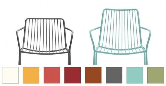 Nolita steel cafe chair colours