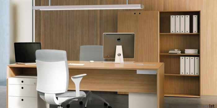 oak tall office storage