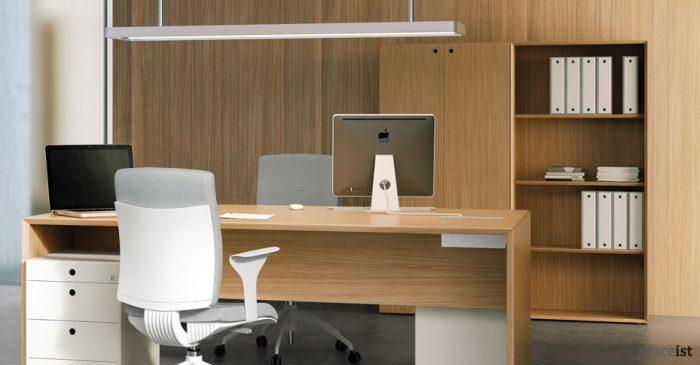 oak tall office storage