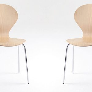 ondo beech plywood stackable cafe chairs