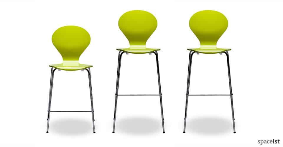 ondo green orange modern bar stools