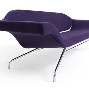 ondo purple reception sofa end view