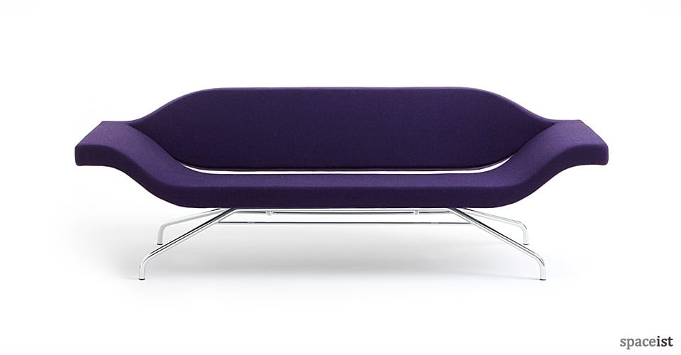 ondo purple designer office reception sofa