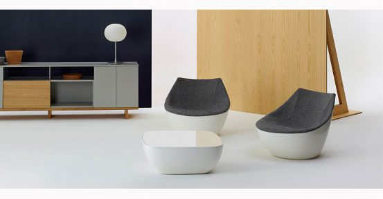 Orbital white and black coffee table