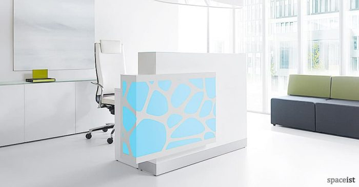Organic blue reception desk