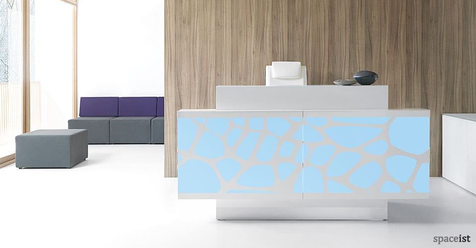 Organic double fronted reception desk