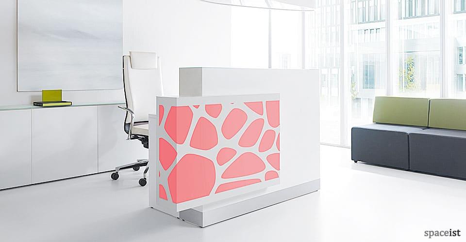 Organic red reception desk