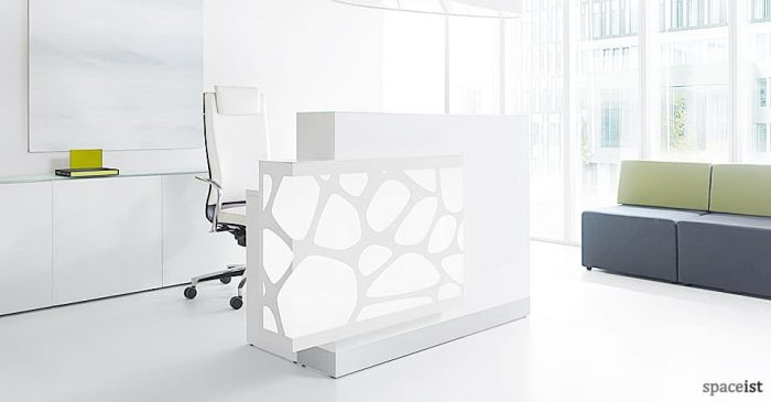 Organic white reception desk