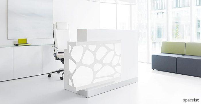 Organic white reception desk