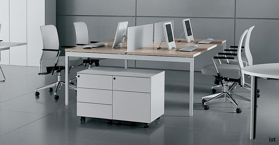 ot white bench desks