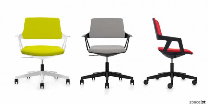 ovy lime swivel meeting chairs