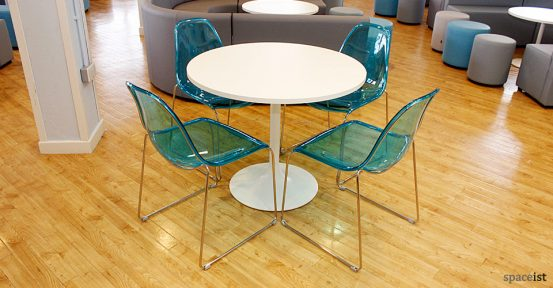oxford college blue cafe chairs