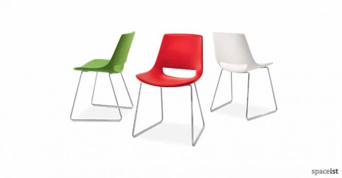 palm plastic sled meeting chairs