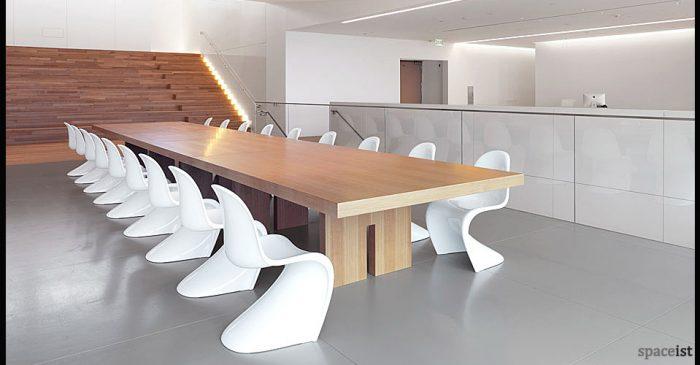 panton white designer cafe chairs