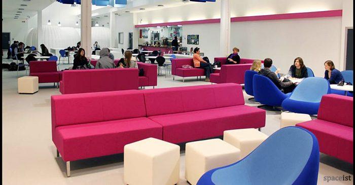 pink fabric modular sofa