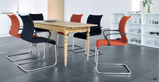 pios orange meeting chairs