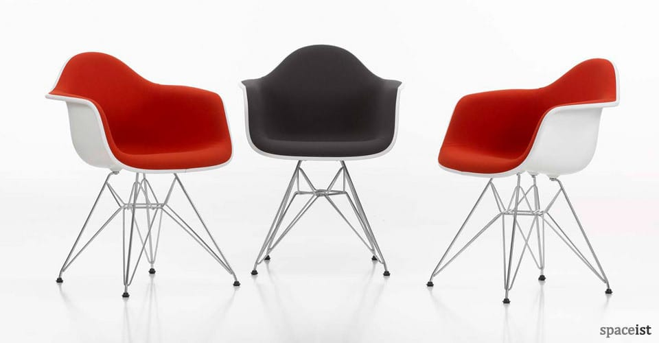 red and black meeting room chairs