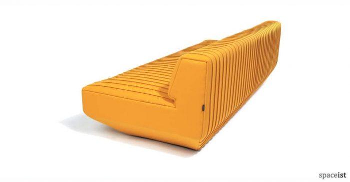 pleats designer yellow office sofa