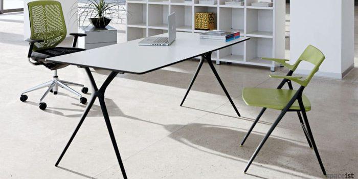 Plex folding meeting table