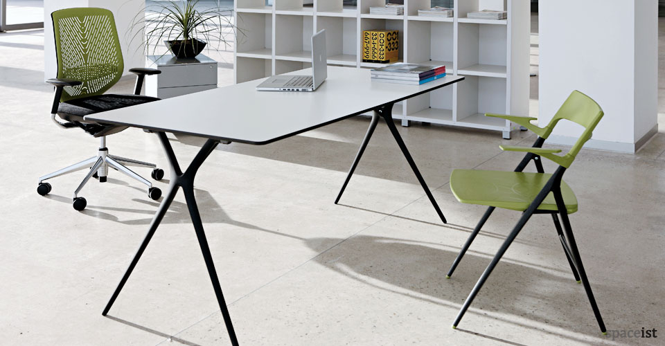 Plex folding meeting table