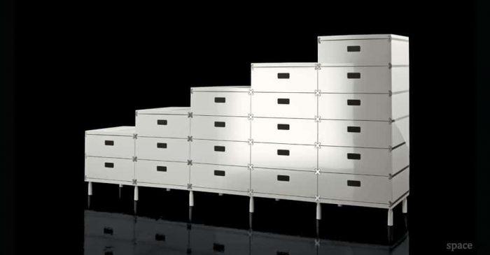plus white modular office drawers