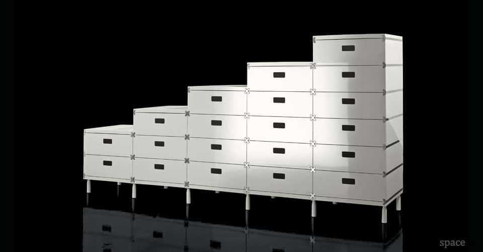 plus white modular office drawers