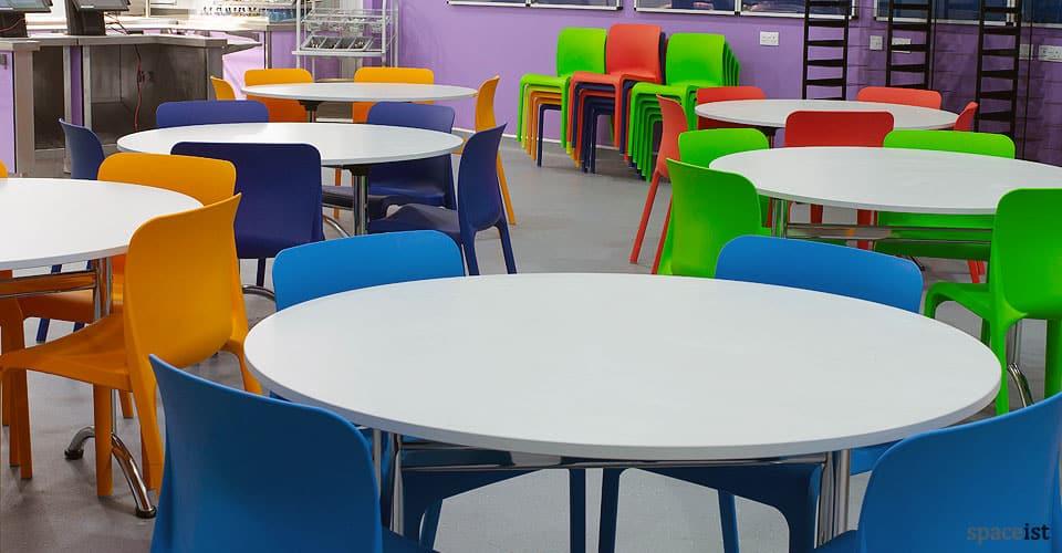 pop multi coloured cafe chair