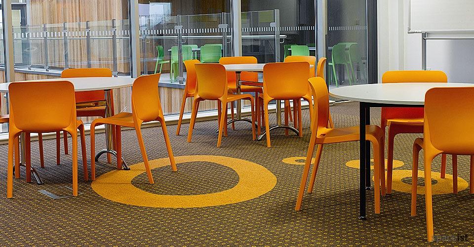 orange cafe chair