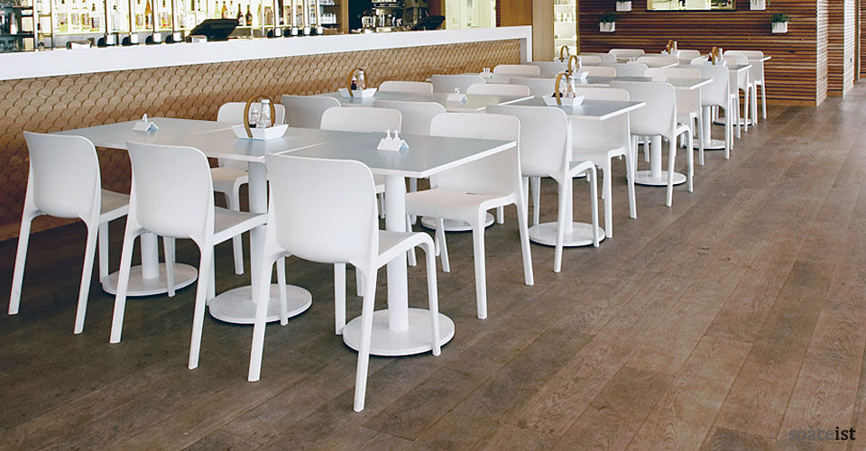 pop white cafe chair
