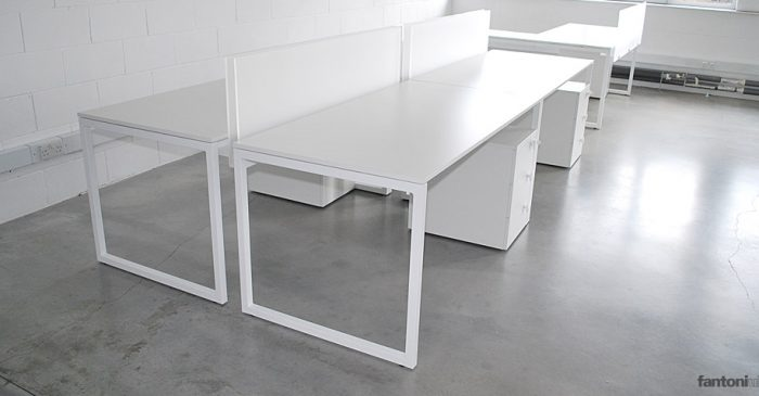 purelife white designer single desks