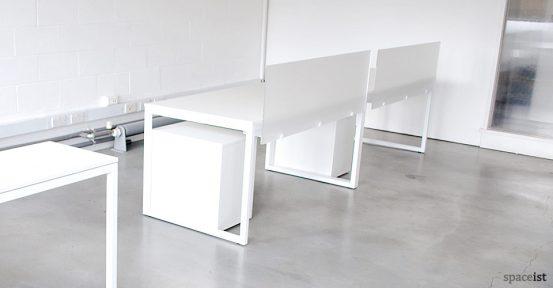 purelife white designer corner desks