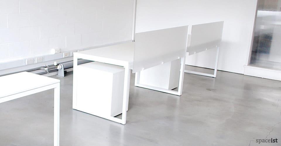 Superb Purelife White Designer Corner Desks