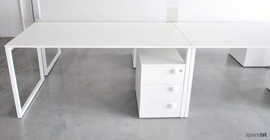 pure life white under desk storage