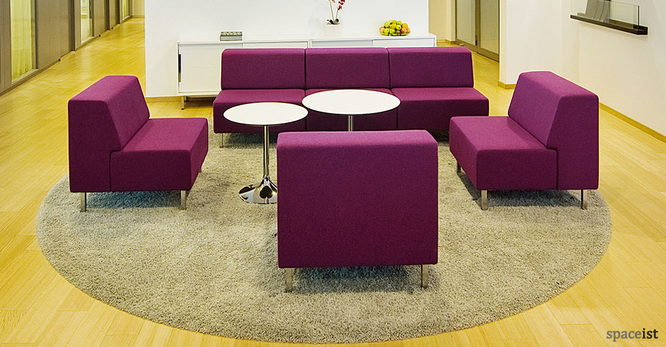 purple library chairs