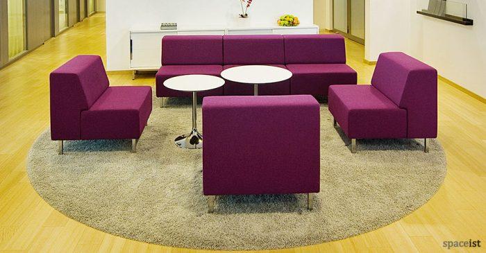 purple modular reception chairs