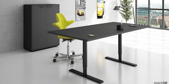 Q-10 black standing office desk