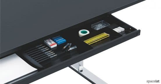 Q-10 standing office desk pen tray