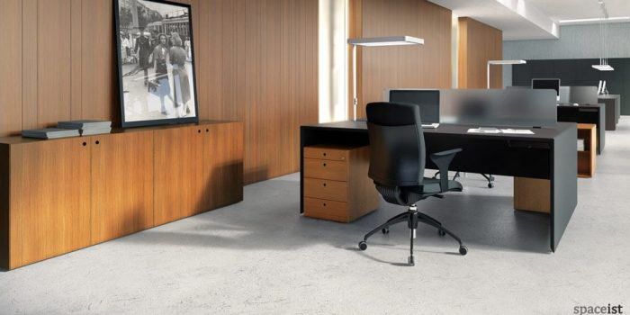 quaranta black 2 person office desks