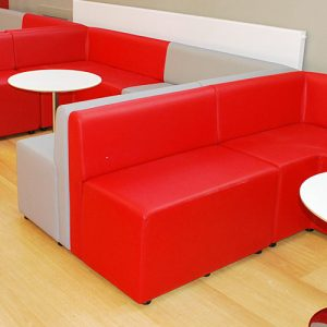 red grey booth university seating