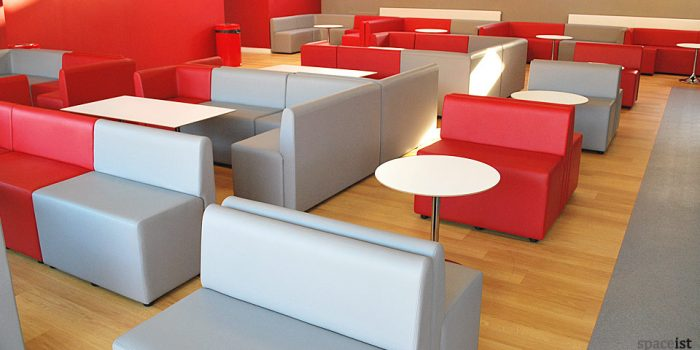red grey mod university bar seating