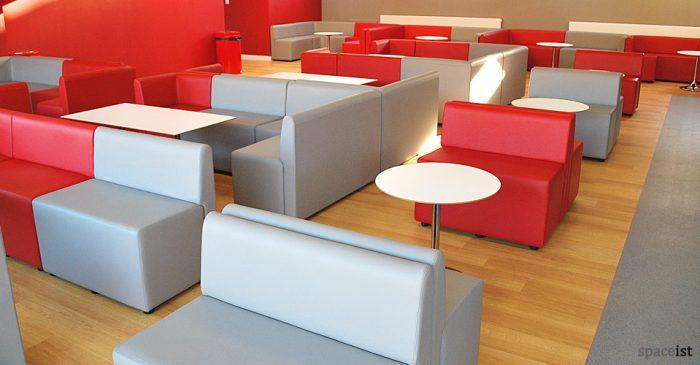 red grey mod university bar seating