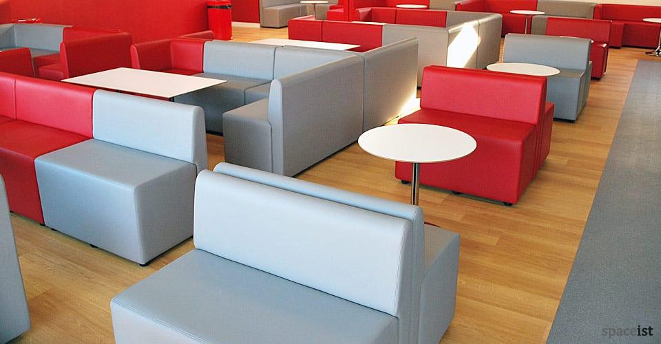 red modular cube seating