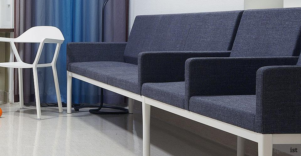 Dentist Sofa in Dark Blue