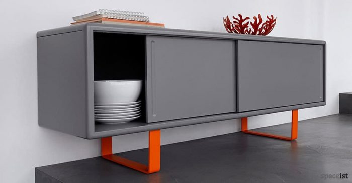 s4 grey orange meeting room cabinet