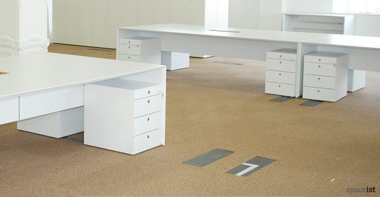 salter baxter 4 person white desk