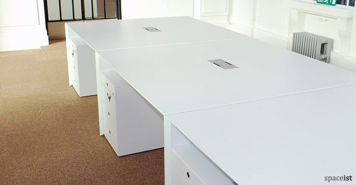 salter baxter white desk