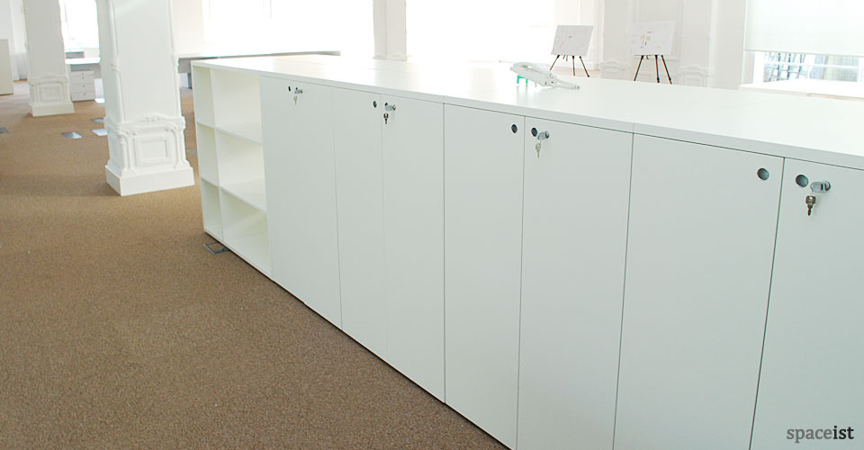 salter baxter white long room dividing storage