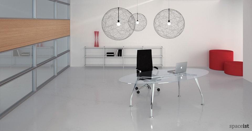 segno glass executive desks